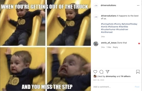 slide down semi truck